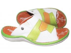 Dámské barevné kožené pantofle Hilby Krisbut 2208