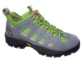 Dětská treková obuv Olang Corvara Kid šedo-zelená