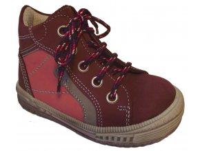 Dětské celoroční boty Essi S 2545 vínová