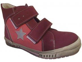 Dětské celoroční boty Essi S 2546 vínová