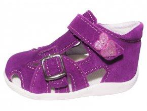 Dětské sandálkové capáčky Jonap 009 fialové