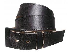 Pánský černý kožený pásek Black Hand 113