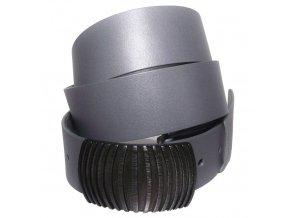 Dámský šedý kožený pásek Black Hand 127