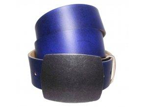 Dámský modrý kožený pásek Black Hand 028