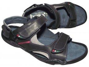 Pánské kožené sandály Kira 0362 černé
