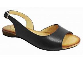 Dámské kožené sandály Hilby D364 černé