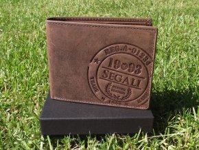 Pánská kožená peněženka Segali SG-614826 hnědá
