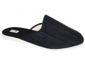 Pánské domácí pantofle Bokap 045 modrá s proužky
