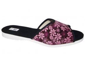 Dámské domácí pantofle Bokap 003 růžová květina