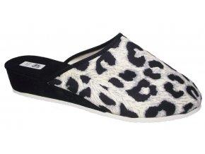 Dámské domácí pantofle Bokap 014 černobílá