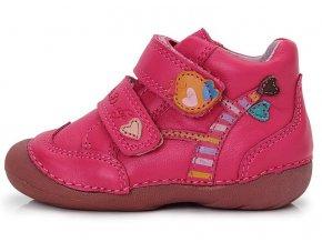 Dětské celoroční boty D.D.step 015-133 růžové