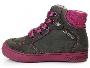 Dětské kotníkové celoroční boty D.D.step 040-23 šedé