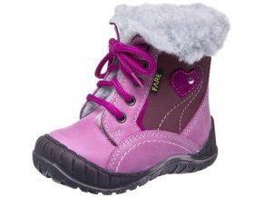 Dětské zimní kotníkové boty Fare 2145153 růžová