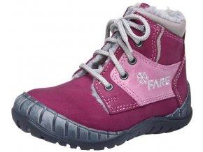 Dětské zimní kotníkové boty Fare 842291 fialová