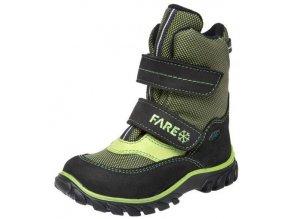 Dětské zimní kotníkové boty Fare 848131 zelená