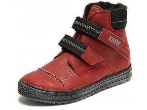 Dětské zimní kotníkové boty Fare 2645191 vínová