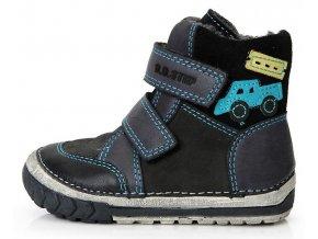 Dětské zimní kotníkové boty D.D.step 029-73 šedé
