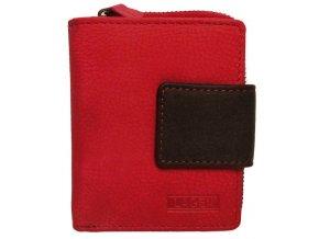 Dámská kožená peněženka Lagen 9500/W červená
