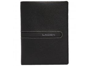 Pánská kožená peněženka Lagen 614860 černá