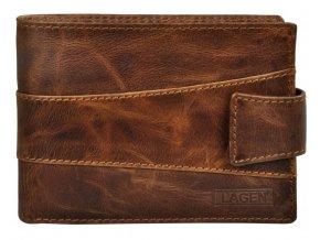 Pánská kožená peněženka Lagen V-98/V hnědá