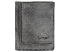 Pánská kožená peněženka Lagen 522/A šedá