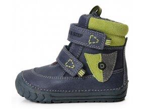 Dětské zimní kotníkové boty D.D.step 029-300B modré