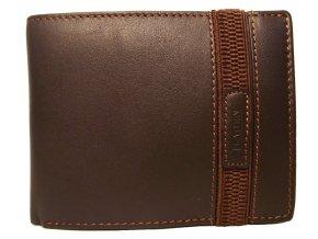 Pánská kožená peněženka Lagen 61178 hnědá
