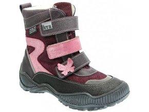 Dětské zimní kotníkové boty KTR 316 fialová