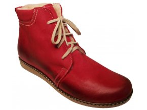Dámské zimní kotníkové boty Hujo J 3822 červená