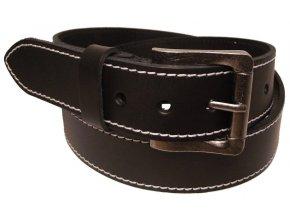 Pánský černý kožený pásek WINAR A