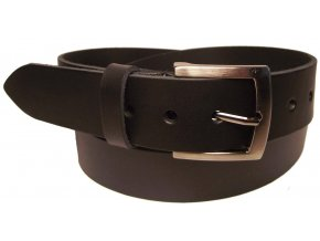 Pánský černý kožený pásek WINAR B