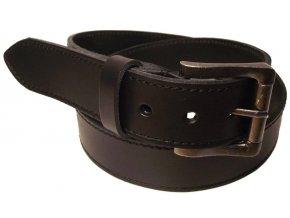 Pánský černý kožený pásek WINAR D