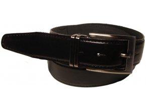 Pánský černý kožený pásek WINAR E