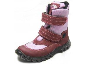 Dětské zimní kotníkové boty Fare 2646293 vínová
