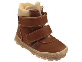 Dětské zimní kotníkové boty Pegres 17122 hnědá