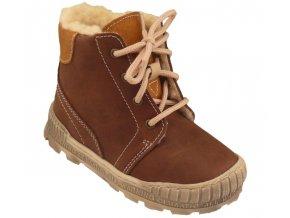 Dětské zimní kotníkové boty Pegres 1710 hnědá
