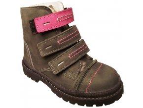 Dětské zimní kotníkové boty Essi S 1580 šedá