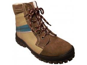 Dětské zimní kotníkové boty Essi S 1507 hnědá