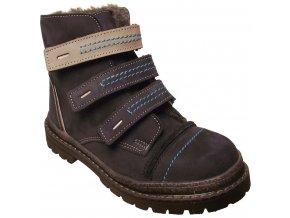 Dětské zimní kotníkové boty Essi S 1580 modrá