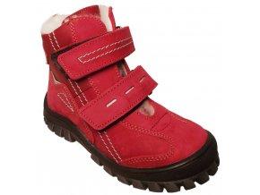Dětské zimní kotníkové boty Essi S 1562 červená
