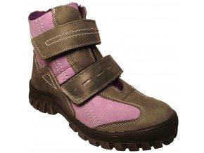 Dětské zimní kotníkové boty Essi S 1562 fialová