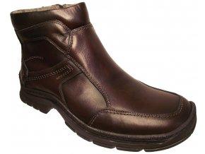 Pánská zimní kotníková obuv Hujo 2286 hnědá