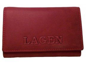Dámská kožená peněženka Lagen V-TPD 36 červená