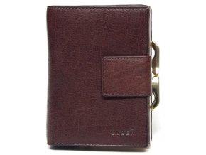 Dámská kožená peněženka Lagen LM-261 hnědá