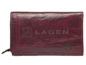 Dámská kožená peněženka Lagen HT-32-T vínová