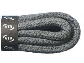 Kulaté bavlněné tkaničky do bot 1 tmavě šedá