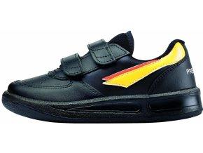 Dětské celoroční boty Prestige Velcro černé