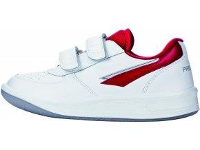 Dětské celoroční boty Prestige Velcro bílé