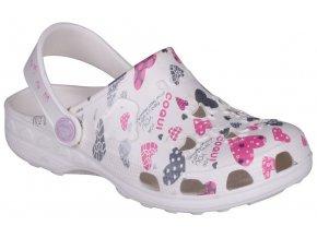 Dětské sandály Crocs Coqui Little Frog bílé
