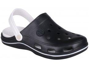 Sandály crocs Coqui Bodee černobílé